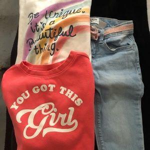 Toddler Girl Jeans & Sweatshirts